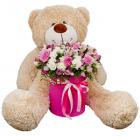 Композиция «Фея цветов» с медвежонком